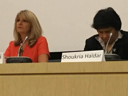 Shoukria Haidar le 17 septembre 2015