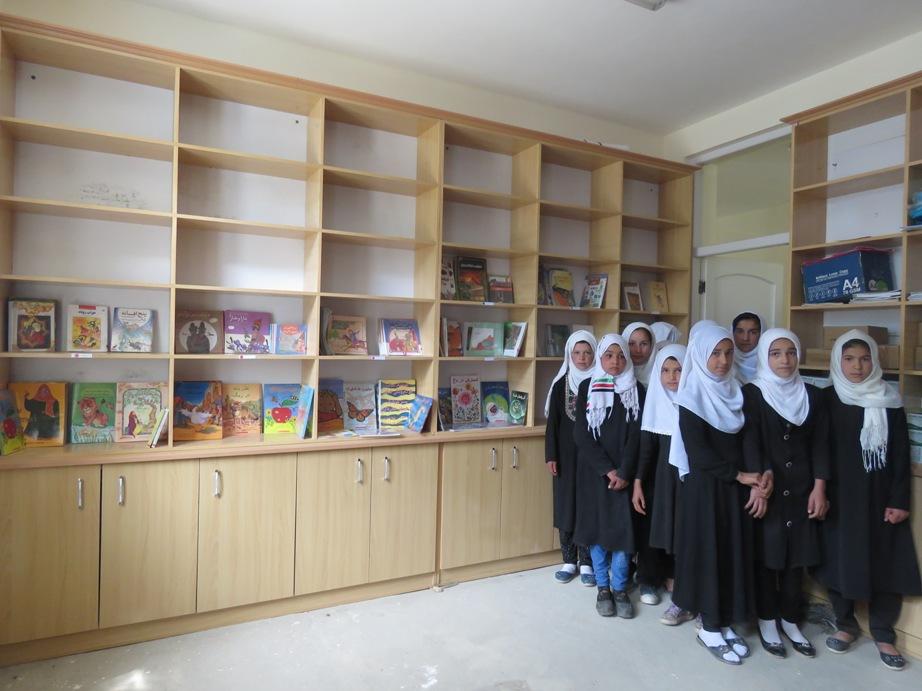 Arrivée des élèves à la bibliothèque